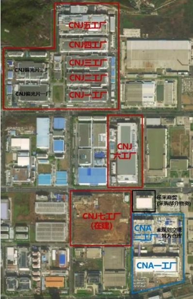 图:LG化学新港CNJ、CNA工厂,其中CNJ工厂主要生产圆柱,来源:中信证券